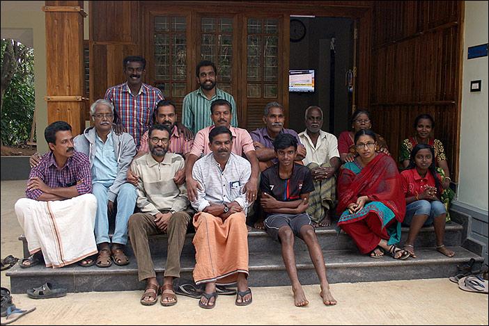 Ein Abschluss-Gruppenfoto