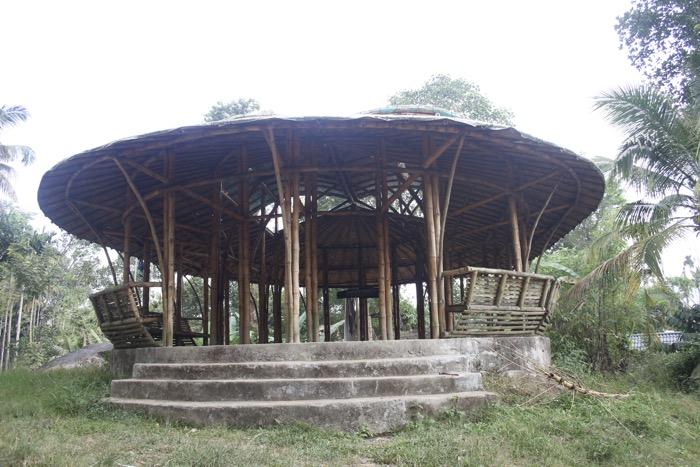 Thrikkaipetta: Pavillon aus Bambus