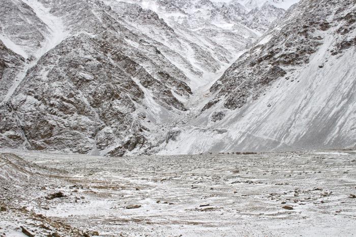 Winterladakh: Landschaft ohne Indus, aber mit Schnee