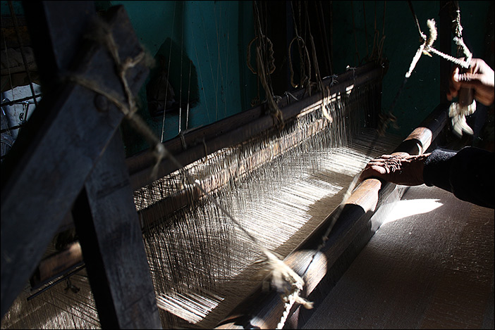 Handwebrahmen in Sarti