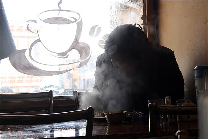 Gast im Ladakhi Kitchen