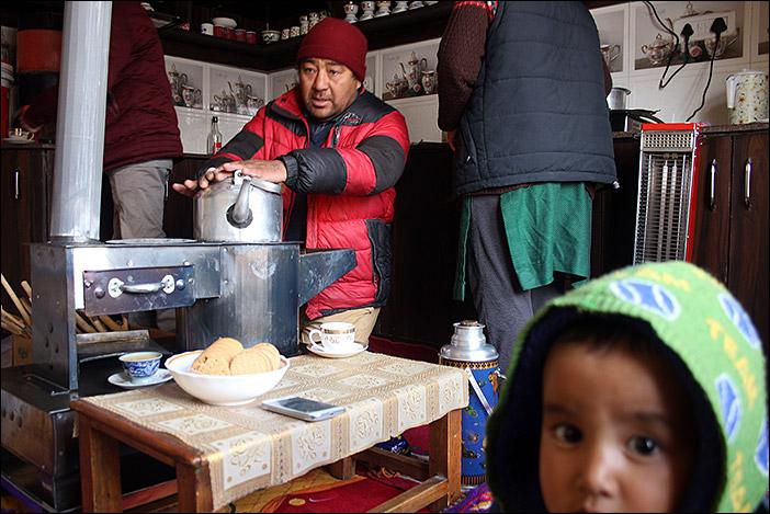 Winterstube in Choglamsar