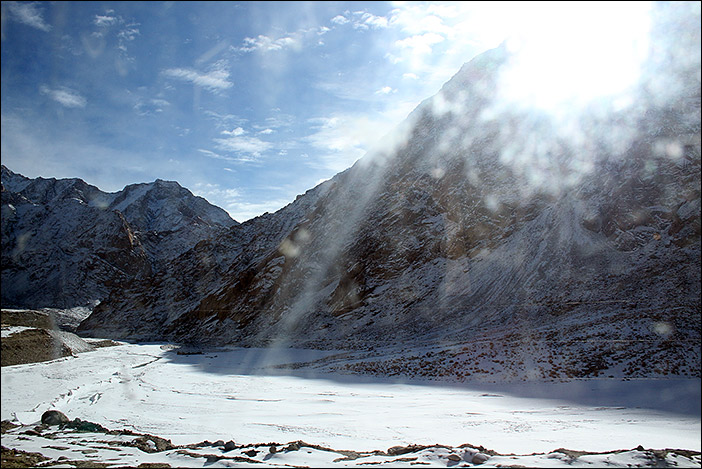 Schnee im Rong-Gebiet