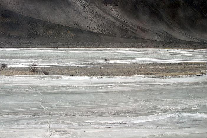 Eis auf Indus im Changthang