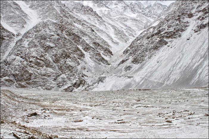 Schneelandschaft im Rong-Gebiet