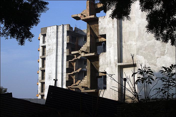 Hausskelett in Dwarka