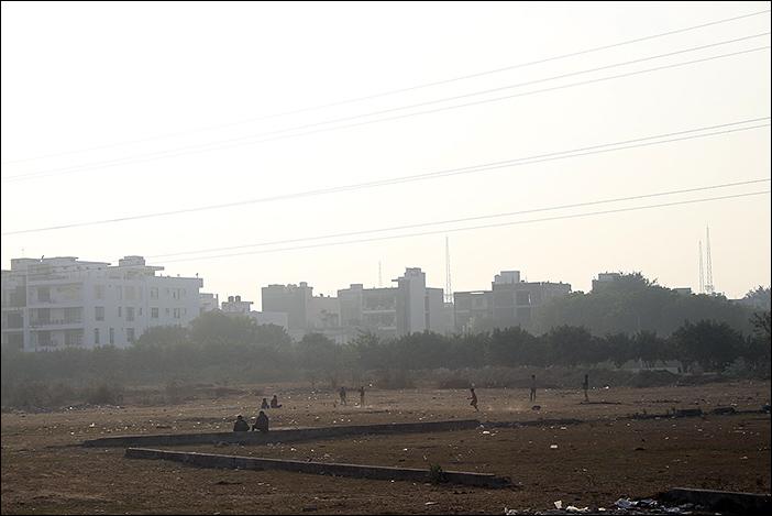 Cricketspiel in Dwarka