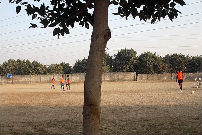 Fußballspiel in Dwarka