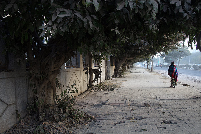 Gehweg in Dwarka