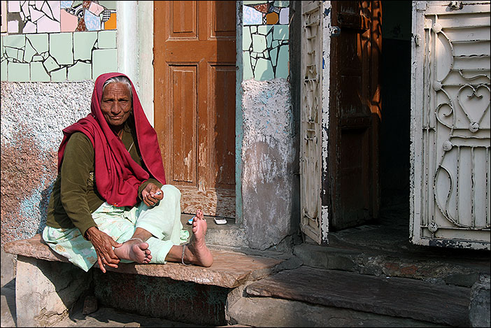 Frau in Bikaner