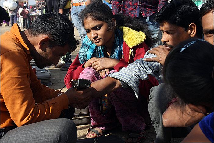 Tättowierung auf Baneshwar Fair