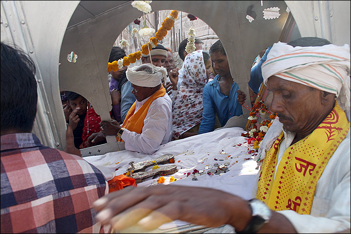 getragene Gottheit Baneshwar Fair