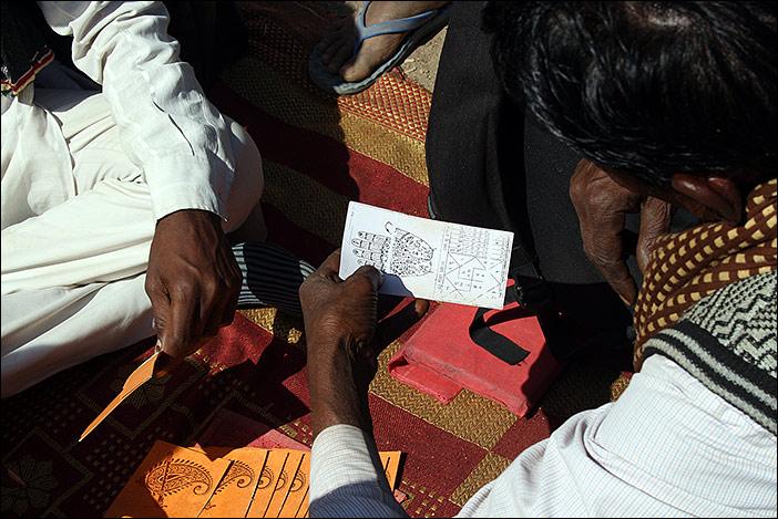 Weissagekarte auf Baneshwar Fair