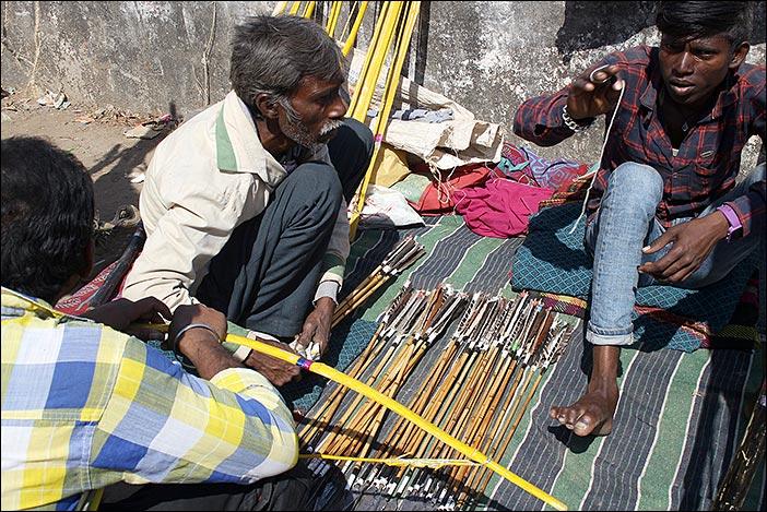 Pfeileangebot auf der Baneshwar Fair