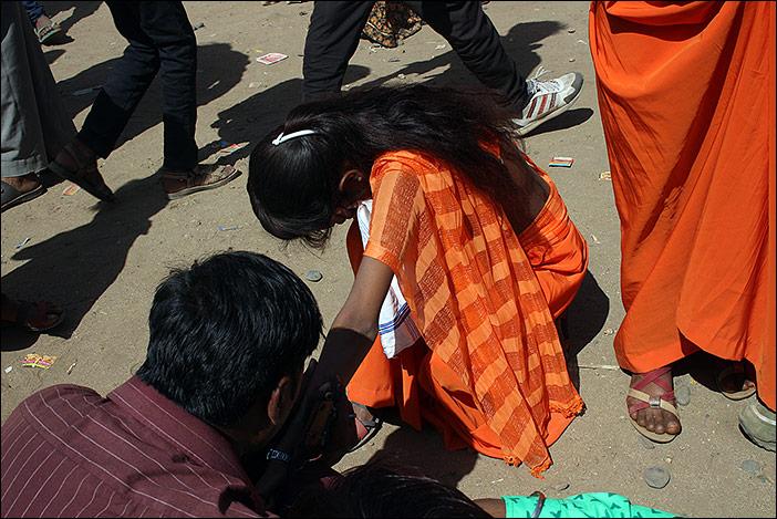 Tätowierung auf Baneshwar Fair