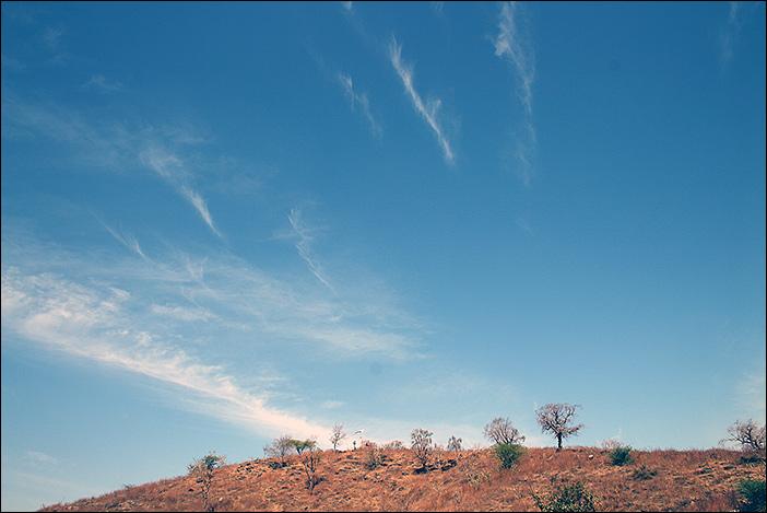 Himmel über Südrajasthan