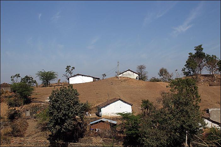 Meena-Häuser in Südrajasthan