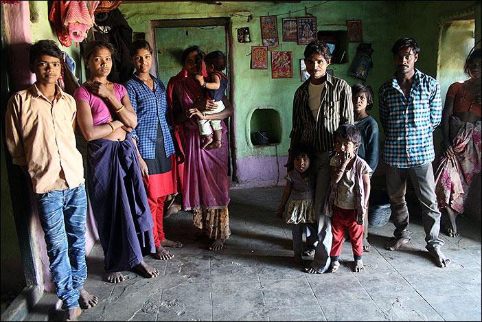 Meena-Familie in Südrajasthan