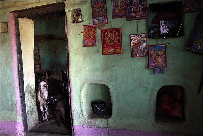 Innen bei einer Meena-Familie in Südrajasthan