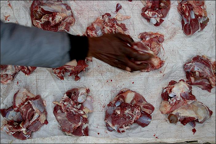 Fleischverteilung in Morvania