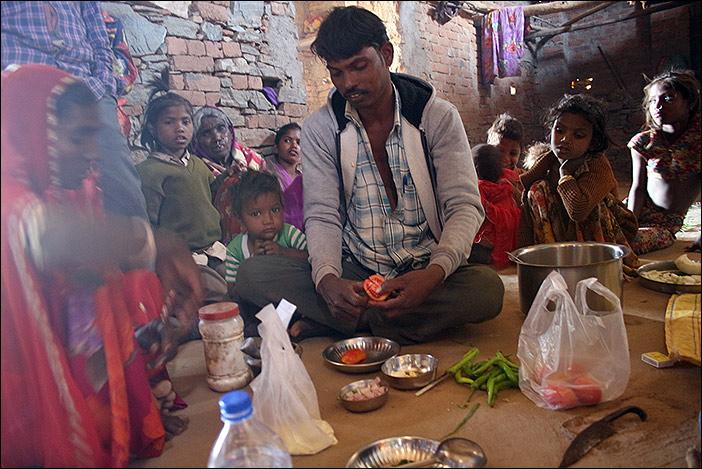 Essenszubereitung in Samal