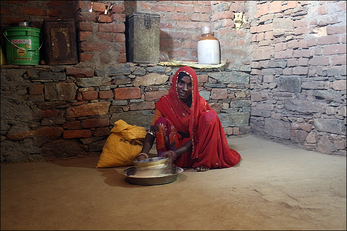 Teig für Chapati in Samal