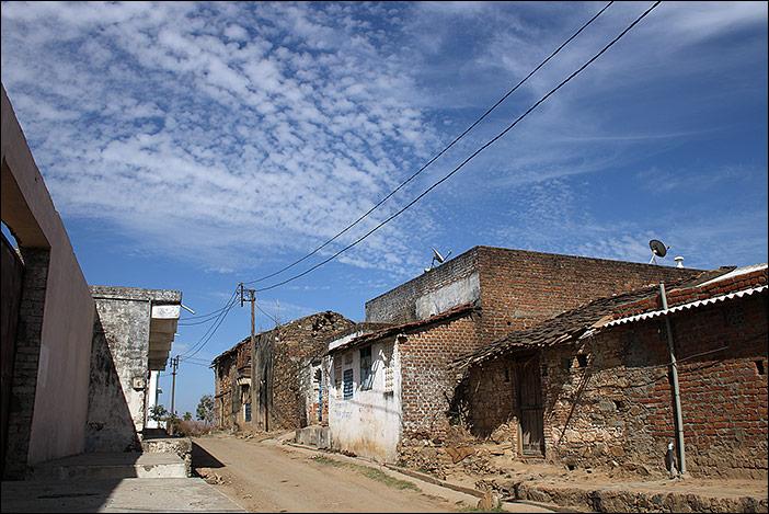 Dorfstraße in Samal