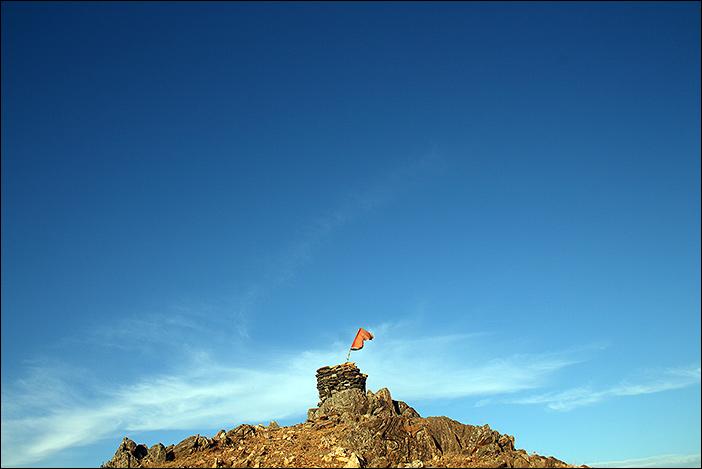 Hügelspitze bei Samal