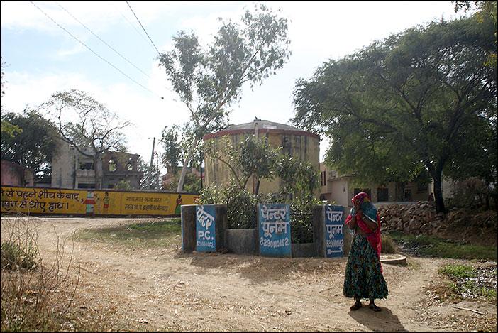 Frau in Süd-Rajasthan