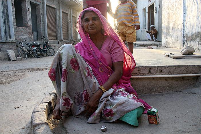 Frau in Ghanerao