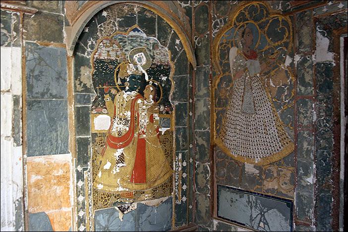 Wandgestaltung in Ghanerao Castle