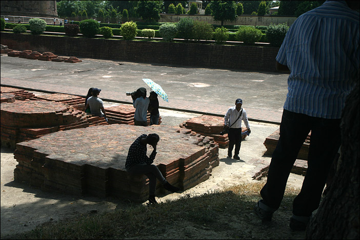 Filmaufnahmen in Sarnath
