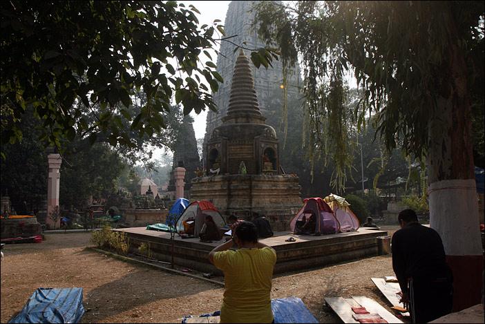 Großer Tempel in Bodhgaya in Indien