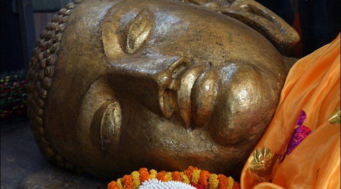 BUDDHA STATUE IN KUSHINAGAR