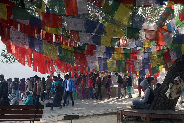 Umrundung des Baums in Lumbini